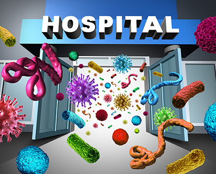 Image of Hospital Full of Germs That Could Infect Patients In Hospitals