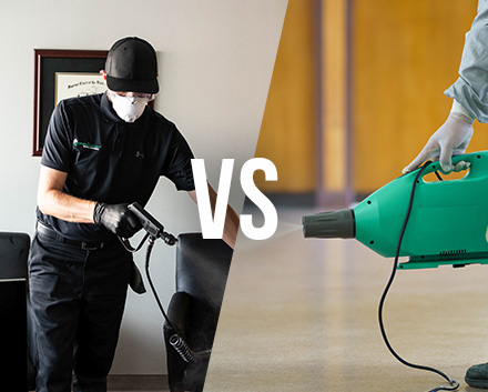 Learn The Difference Between Electrostatic Disinfection and Fogging